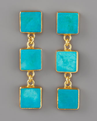 Turquoise drop earring can be bought at Neiman Marcus
