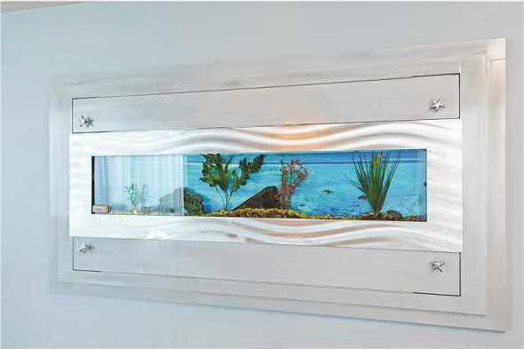 Custom wall fish tank